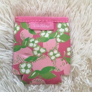 Lily Pulitzer pink and green koozie